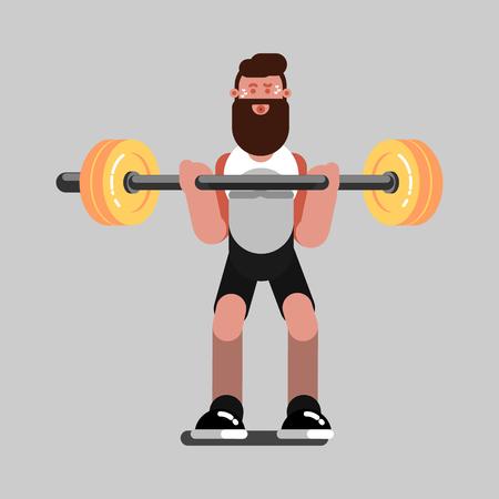 Guy doing exercises