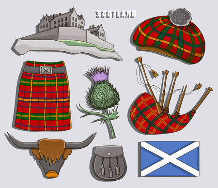 Scotland country set icons