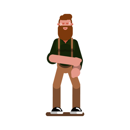 Angry man rolls up sleeves Illustration