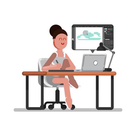 Woman freelancer designer