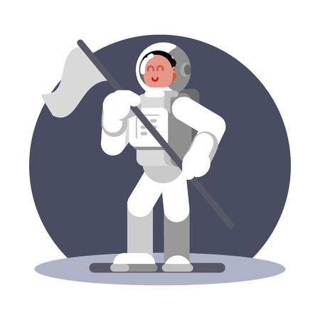 Woman cosmonaut in helmet