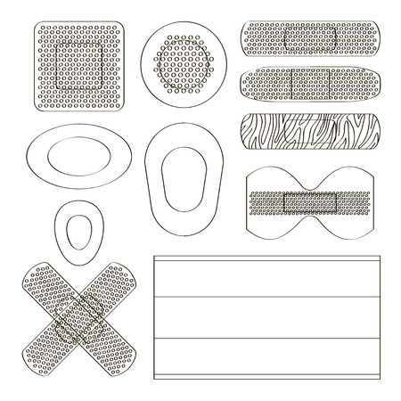 Medical plasters of various shape