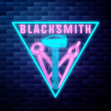 Blacksmith graphic vintage emblem Illustration