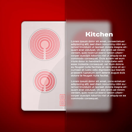 Kitchen concept induction cooking panel