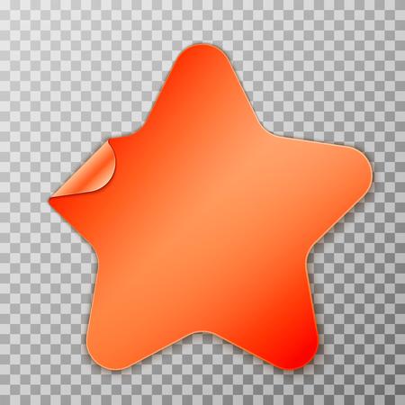 Orange star peel off paper Ilustração