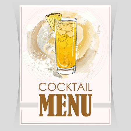 Vector flyer, cover menu