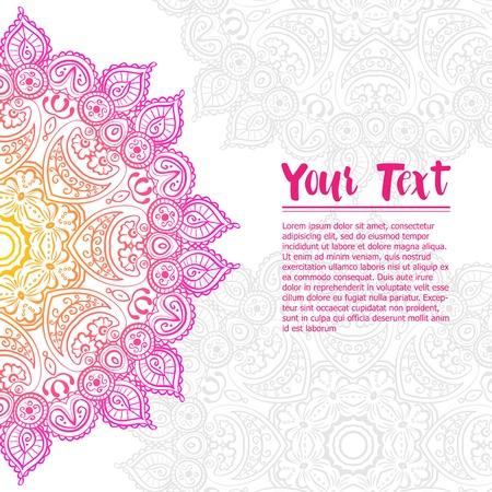 Beautiful vintage circular pattern of indian, floral round, vector illustration Vecteurs