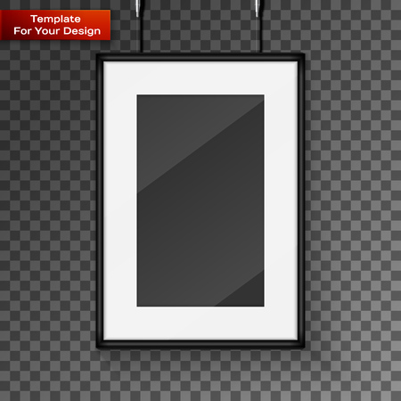 Realistic frame. Perfect for your presentations isolated on transparent background. Vector illustration, EPS 10