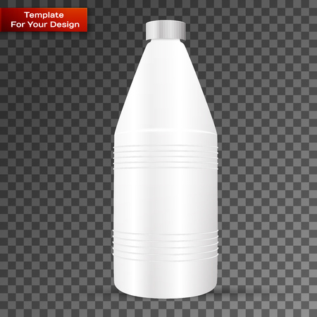 Bottle with cleaner isolated on transparent background Illustration