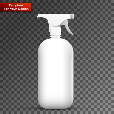 Spray Pistol Cleaner Plastic Illusztráció