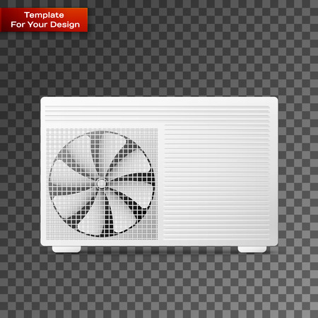 Air conditioner On transparent Background. Vector illustration, EPS 10