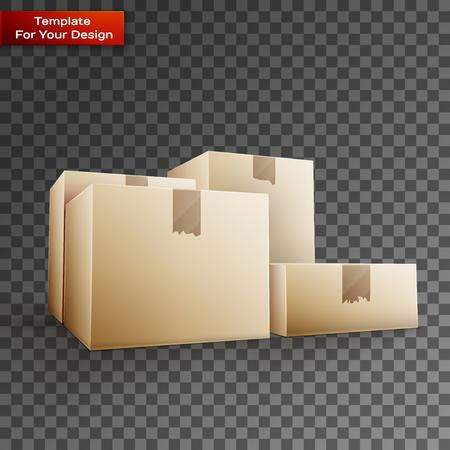 Delivery box On transparent Background. Vector illustration, EPS 10 Illustration