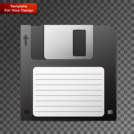 Diskette On transparent Background Archivio Fotografico - 112097444
