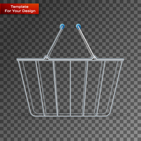 Shopping basket On transparent Background. Vector illustration, EPS 10