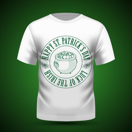 Lettring for Saint Patricks Day on t-shirt. Vector illustration, EPS 10