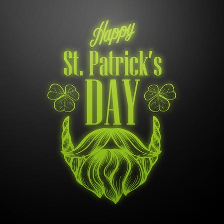 Lettring for Saint Patricks Day. Vector illustration, EPS 10 Illustration