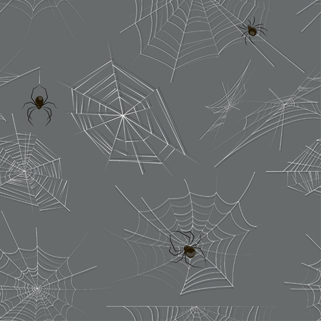 Collection of spiders and webs pattern. Vector illustration, EPS 10