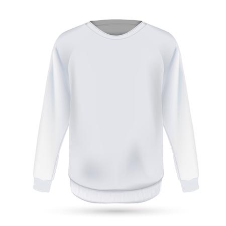 Vorlage für weiße Sweatshirts. Vektor-Illustration EPS 10 Vektorgrafik