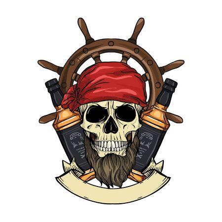 Sketch pirate skull