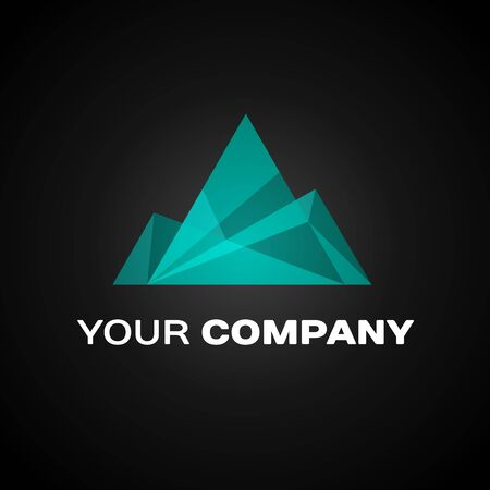 Company  Ice Mountain Design Element in Vintage Style for  Label, Badge, T-shirts and other design.