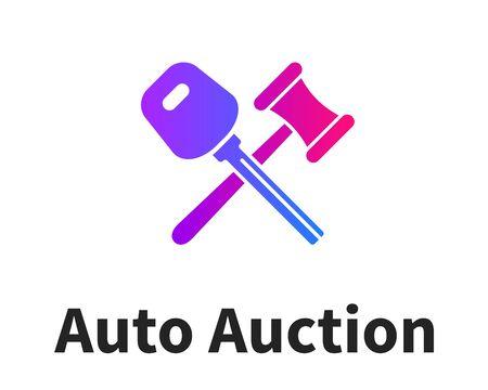 Car Auction Logo Design, Company emblem Illustration
