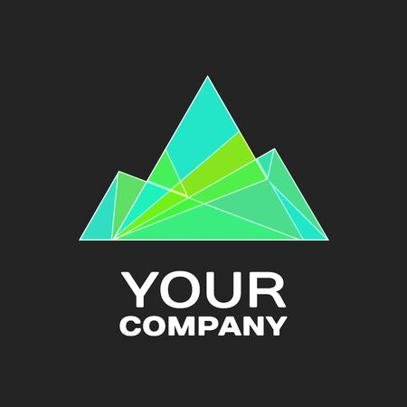 Company logo Ice Mountain Design Element in Vintage Style for Logotype, Label, Badge, T-shirts and other design.