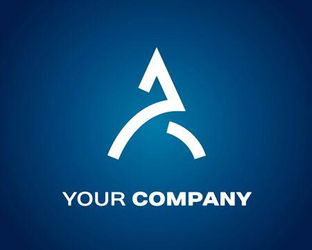 Letter A logo Car Design. Company emblem
