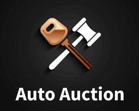 Car Auction Logo Design, Company emblem Stock Illustratie