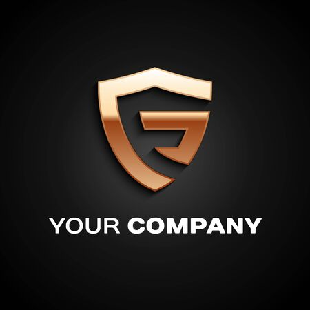 Letter F logo Car Design. Company emblem