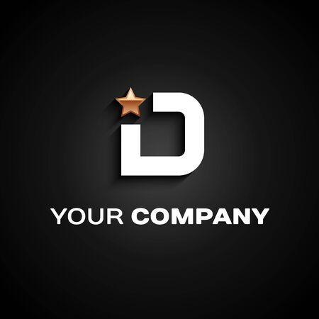Letter D logo Car Design. Company emblem Stock Illustratie