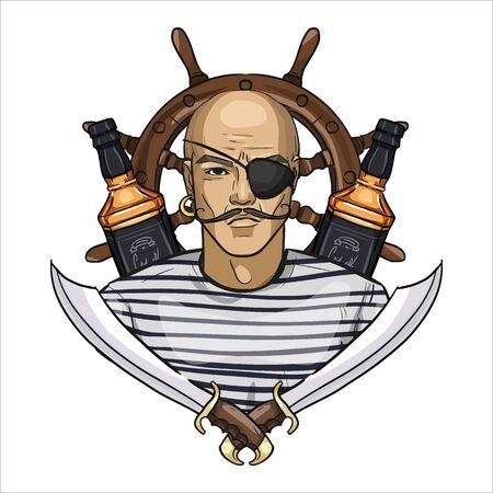 Sketch pirate face