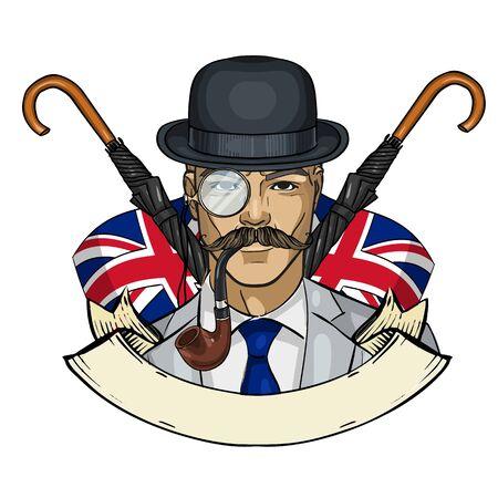 Sketch british man Stockfoto - 132476254