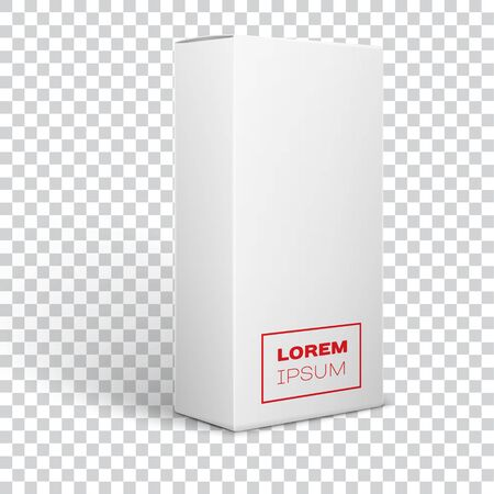 White Product Package Box Illustration for your image Isolated On transparent Background 向量圖像