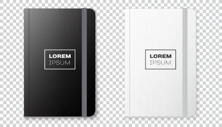 Realistic notebook mock up for your image on a transparent background Illusztráció