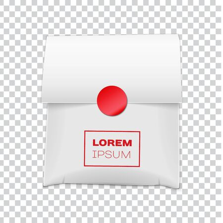 White Paper Bag Package for your image Illustration Isolated On transparent Background