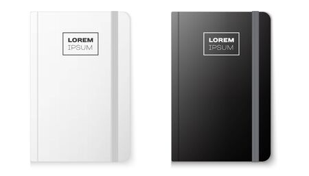 Realistic notebook mock up for your image on a white background