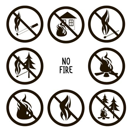 Collection of no fire icons