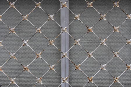 meshed: Abstract metal grid background texture Stock Photo