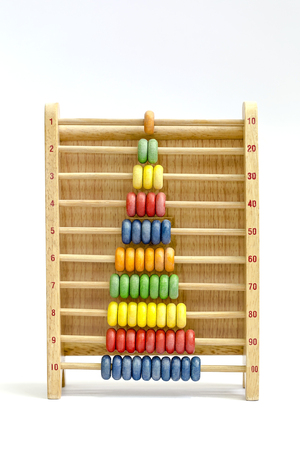 withe: Colorful wooden abacus on withe background