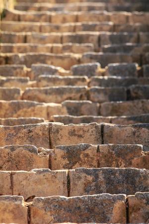 brick texture: Old brick step background