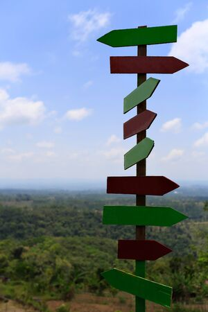 sign post: Sign posts on top view