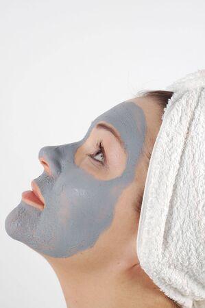 cremas faciales: Belleza m�scara # 5  Foto de archivo