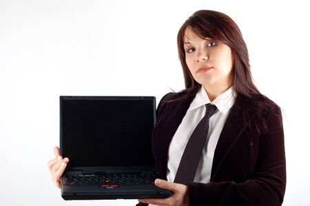 businesswoman with laptop #4 photo