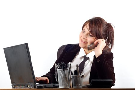 business woman at desk #13 photo