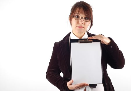 woman holding clipboard #6 photo