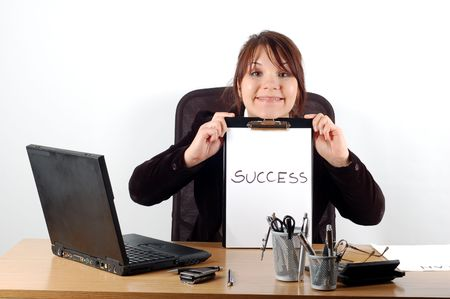 business woman at desk #15