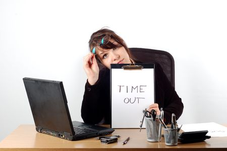 business woman at desk #15 Stock Photo - 838439