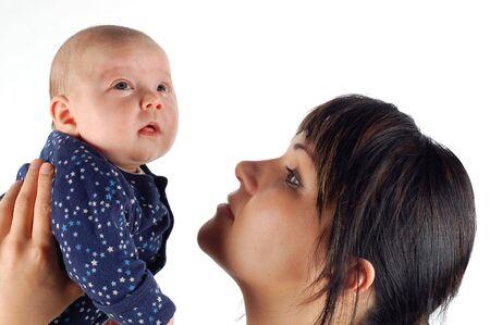 caretaking: mother holding baby #6