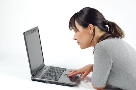 woman working on laptop #8
