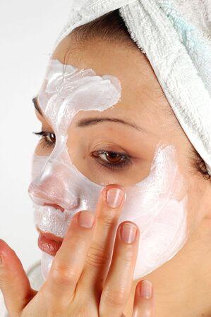 cremas faciales: Belleza m�scara # 21  Foto de archivo